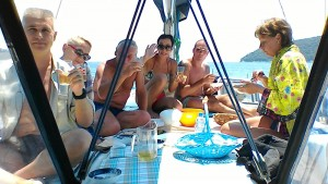 Lunch on Diamanti sailing boat