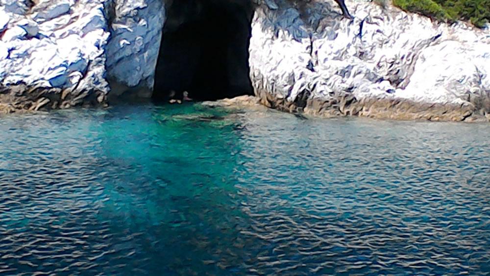 blue cave skiathos